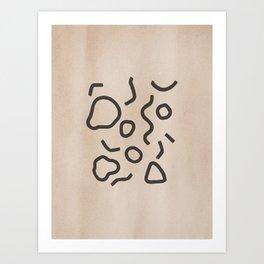 Simple Confetti Art Print