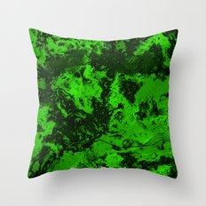Galaxy in Green Throw Pillow