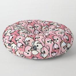 Too Many Birds!™ Pink Parrot Posse Floor Pillow