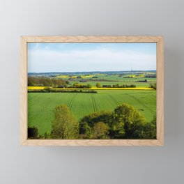 Fields of Green and Gold in Southern Sweden Framed Mini Art Print