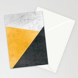 Modern Yellow & Black Geometric Stationery Cards
