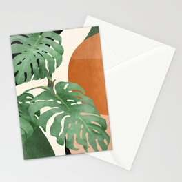 Tropical Leaves- Abstract Art  Stationery Cards