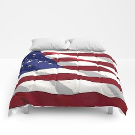 Fancy Flag:  USA 3 Comforters