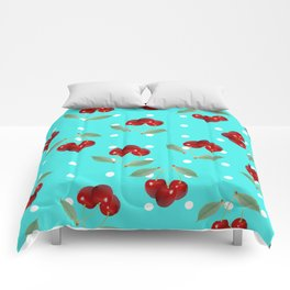 Retro Cherries Comforters
