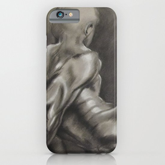 Nude Male Figure Study, Black and White.  iPhone & iPod Case