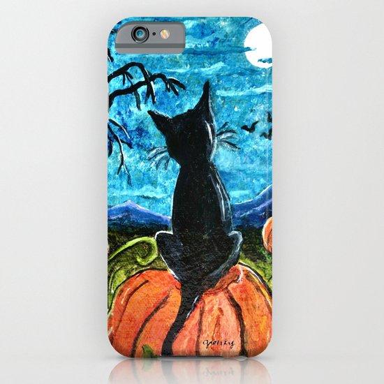 Cat in Pumpkin Patch iPhone & iPod Case