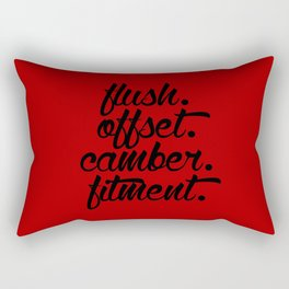 flush offset camber fitment v3 HQvector Rectangular Pillow
