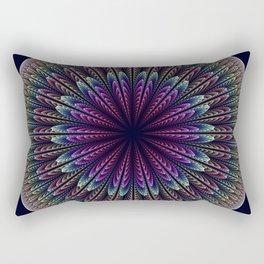 Floral mandala with tribal patterns Rectangular Pillow