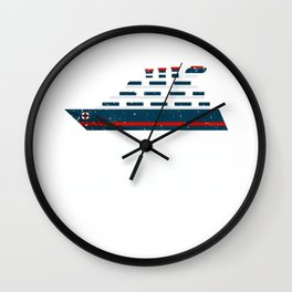 Funny Cruise Take me to your Lido Cruise Wall Clock