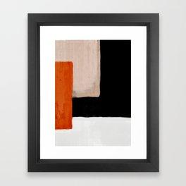abstract minimal 14 Framed Art Print