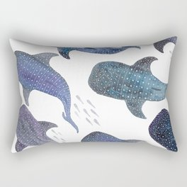 Whale Shark Pattern Party Rectangular Pillow