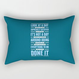 Lab No. 4 Look At A Day When Margaret Thatcher Inspirational Quote Rectangular Pillow