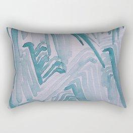 Watercolor Waves Rectangular Pillow