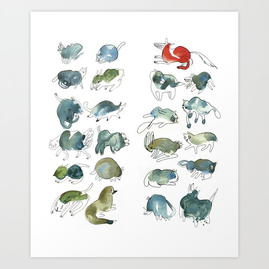 Animalzzz Art Print