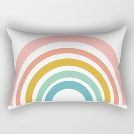 Simple Happy Rainbow Art Rectangular Pillow