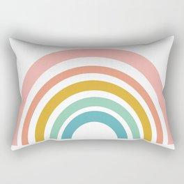 Simple Happy Rainbow Art Rectangular Pillow