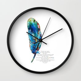 One Great Thing - Native American Colorful Feather Art - Sharon Cummings Wall Clock