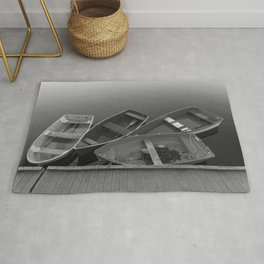 Four Skiffs B&W Rug