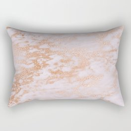Pastel Lavender Marble Rosegold Glitter Pink Rectangular Pillow