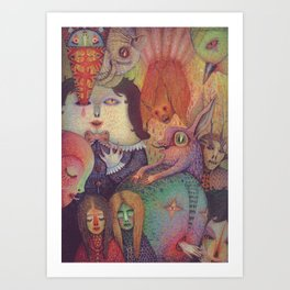 Secret Gathering Art Print