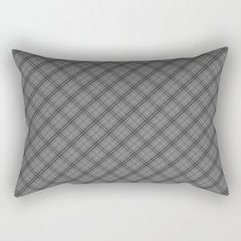 Tombstone Grey and Black Halloween Tartan Check Plaid Rectangular Pillow