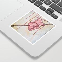 Arrow in Heart Sticker