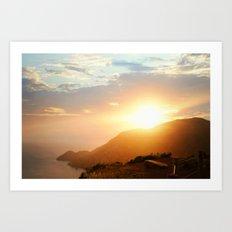 Sunset at Marin Headlands Art Print