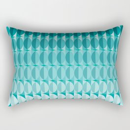 Leaves in the moonlight - a pattern in teal Rectangular Pillow