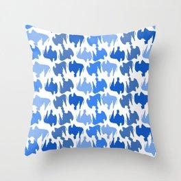 Buffalo Blues Throw Pillow