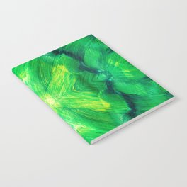Brush play in hues of green 13 Notebook