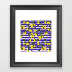 Pattern of lemons II Framed Art Print
