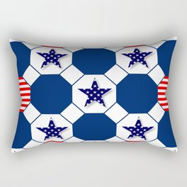 Nautical Patriotic Hexagons Rectangular Pillow