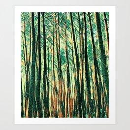 tree of paint Art Print