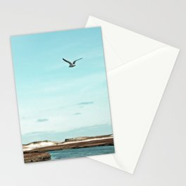 Minimalist Blue And Brown Seascape Stationery Cards