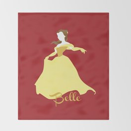 Belle from Beauty and the Beast Throw Blanket