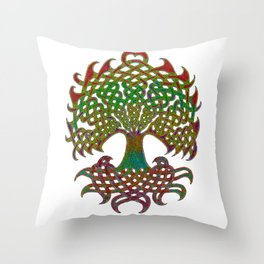 Celtic Knot Tree of Life Throw Pillow