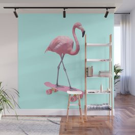 SKATE FLAMINGO Wall Mural