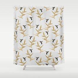 Hummingbird & Flower II Shower Curtain