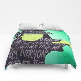 Elphaba is Defying Gravity Comforters
