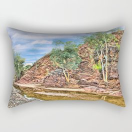 Rocks at Brachina Gorge, Flinders Ranges, Sth Australia Rectangular Pillow