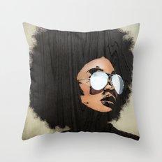 Venus Afro Throw Pillow