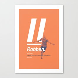 Robben Netherlands 11 Canvas Print