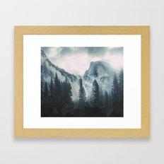Cross Mountains Framed Art Print