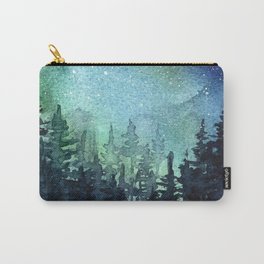 Galaxy Watercolor Aurora Borealis Painting Carry-All Pouch