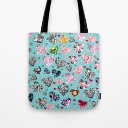 Heart Diamonds are Forever Love Tote Bag