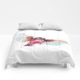Pink Robin Bird Comforters