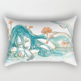 Mushroom Maiden Rectangular Pillow