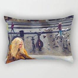 Pretty Woman in Amsterdam Rectangular Pillow