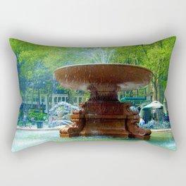 A Fountain in New York City Rectangular Pillow