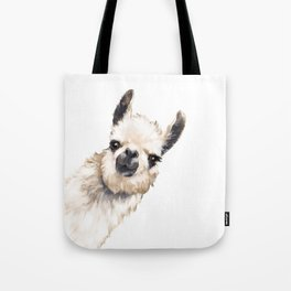 Sneaky Llama White Tote Bag